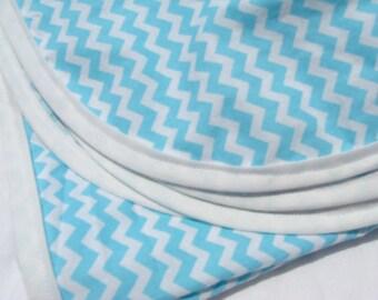 Cotton Receiving Blanket Blue Chevron