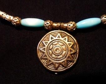 Blue sundial set