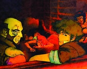 Cowboy Bebop series (16), 17 x 24, Watercolor Print, Magnet, Poster