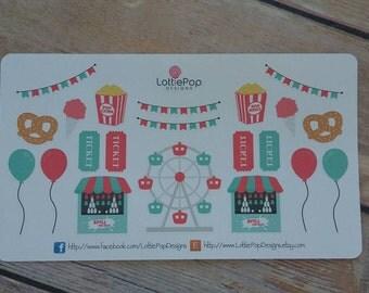 Fair/Carnival Planner Stickers
