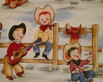 Cowboy Fabric Michael Miller 1 Yard Cotton