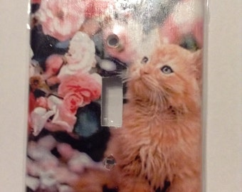 Cute Cat wall switch plate cover