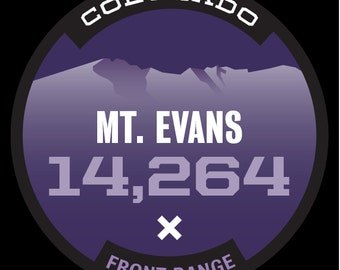 14er Sticker- Mt. Evans