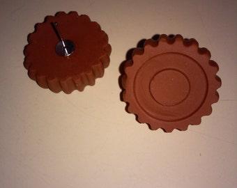 Earrings chocolate