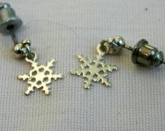 Vintage, pierced earrings.  Very small dangle style.