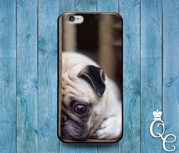 iPhone 4 4s 5 5s 5c SE 6 6s 7 plus iPod Touch 4th 5th 6th Gen Cute Funny Puppy Dog Pet Pug Sad Face Cool Phone Cover Girl Boy Friend Case