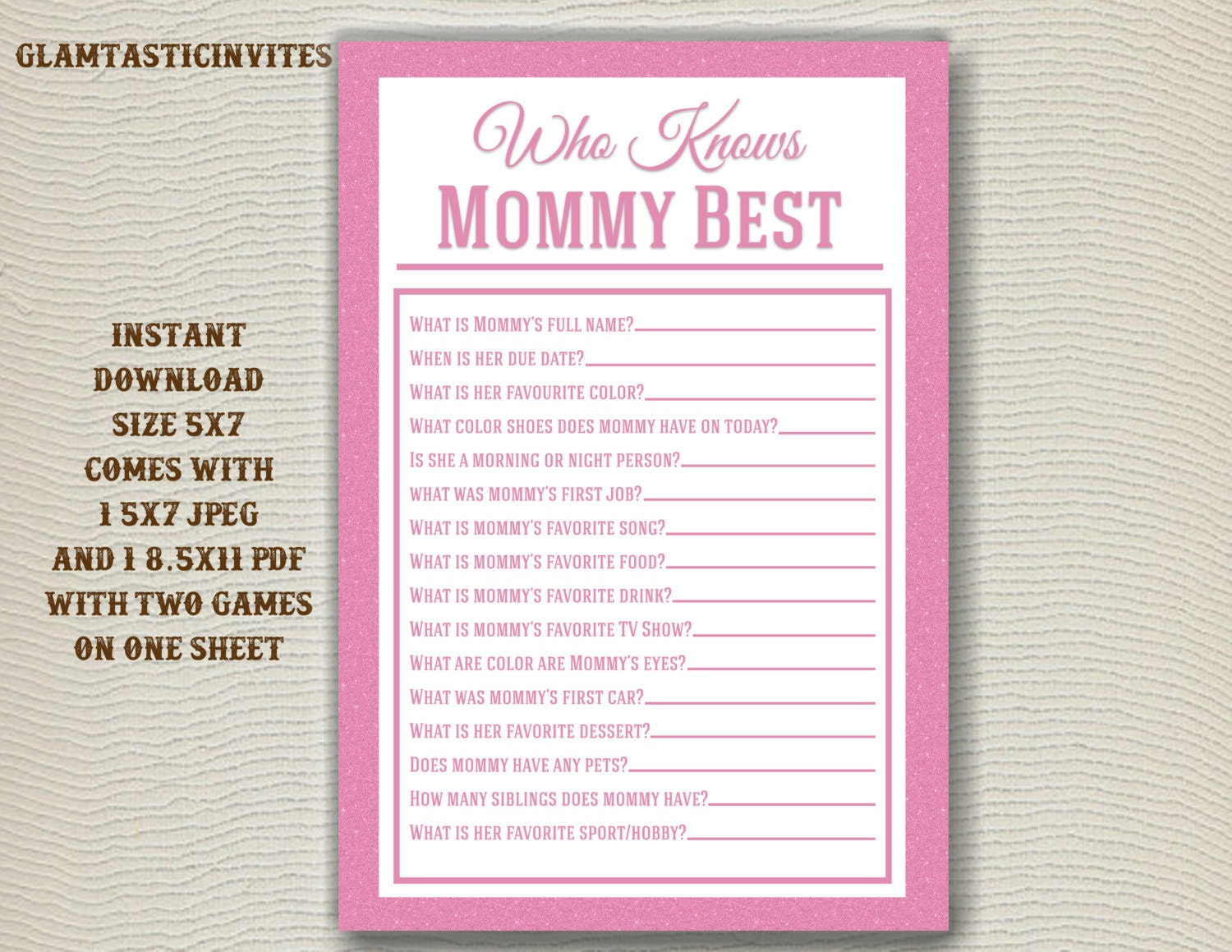 It is an image of Bright Who Knows Mommy Best Free Printable