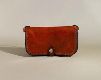Vintage Brown Leather Bag, Shoulderbag, Shoulderpurse
