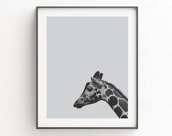 Giraffe Print Art |  Baby Shower Gift | Safari Nursery | Baby Gift | Giraffe Kids Art | Giraffe Wall Art | Giraffe Nursery | Art Print