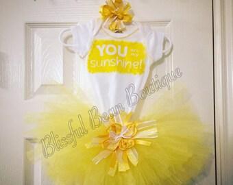 You are my Sunshine Yellow Tutu