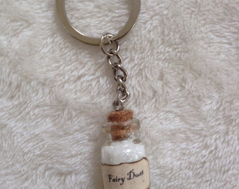 Fairy dust keyring, Faith trust and pixie dust! perfect for tinkerbell and Peter Pan fans