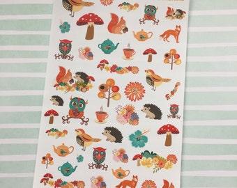 Woodland Creatures Decorative Stickers