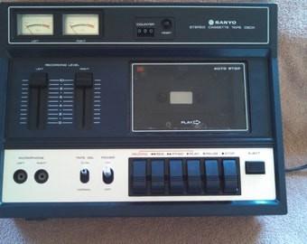 Sanyo Stereo Cassette Deck Recorder Model RD 4135 Made in Japan