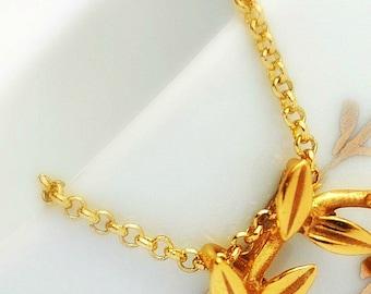 golden chain, gold plated chain, chain gold plated in 24 K gold