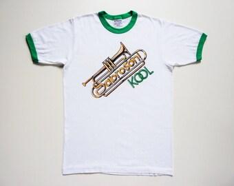 Vintage 80's Tee-Shirt Latin Jazz Trumpet Kool Sabroson