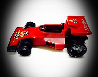 vintage Fisher Price race car 1975 red toy super speed racer