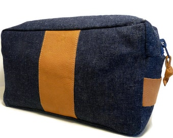 Vanity case - Jean and leather