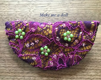 Embellished lace hair clip