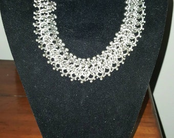 80s chunky chain link necklace and bracelet set