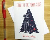Star Wars Christmas Card, Funny Christmas Card, Star Wars, Star Wars Gifts, Darth Vader, Happy Holidays Card, Merry Christmas Card, Xmas,