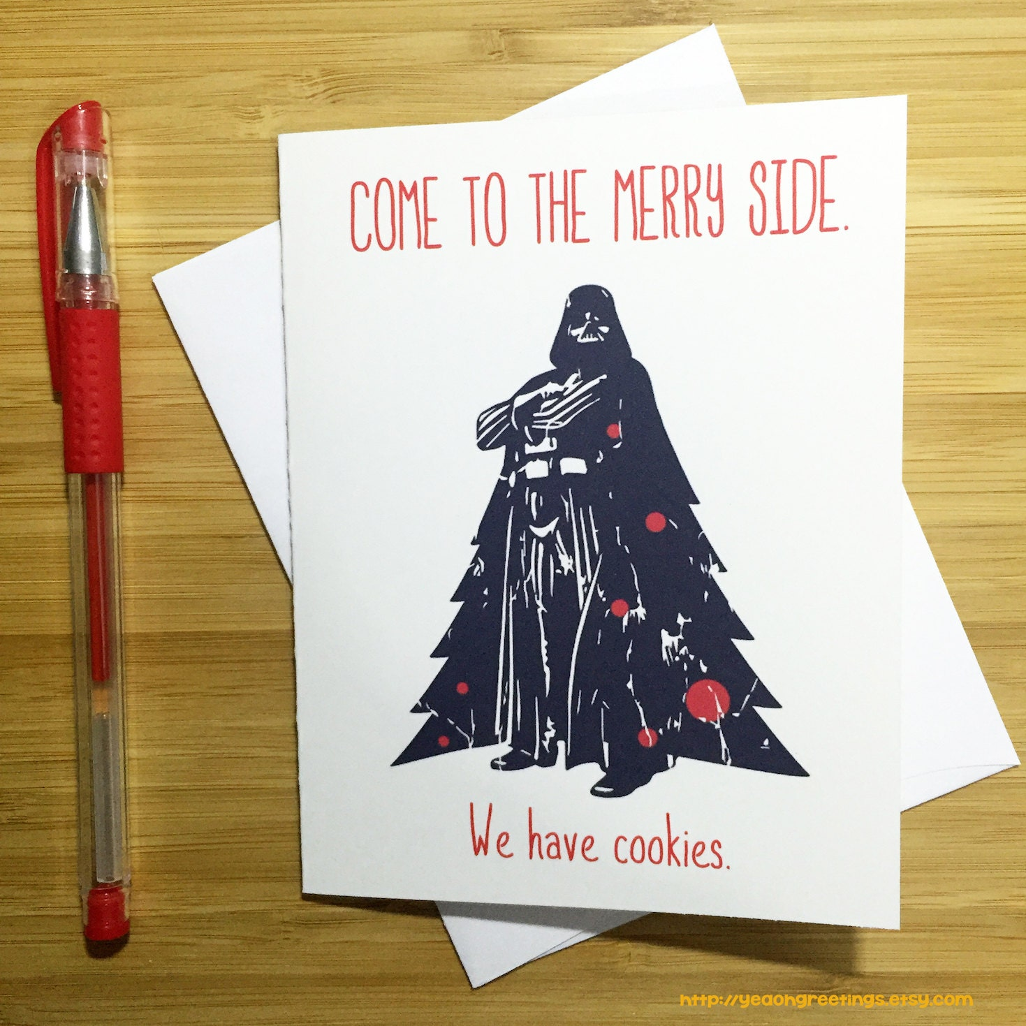 Star Wars Christmas Card Funny Christmas Card Star Wars