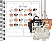 Designer Handbag Stickers *Style 2*   Planner Erin Condren Plum Planner Filofax Sticker