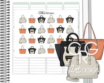 Designer Handbag Stickers *Style 2* | Planner Erin Condren Plum Planner Filofax Sticker