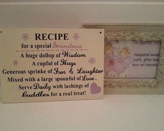 Special Grandma wooden plaque