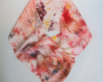 warm colorful handmade Silk circle Scarf