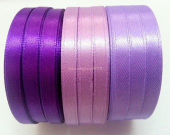 12 metres of satin ribbons is 4 meters of each color