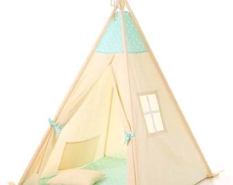 Kids teepee +pillow play tent wigwam, children's teepee, playtent, tipi, wigwam, kids teepee, tent, play teepee, wigwam TIPI ENFANTS