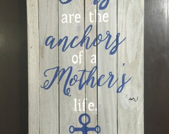 Rustic Wood Sign with quote