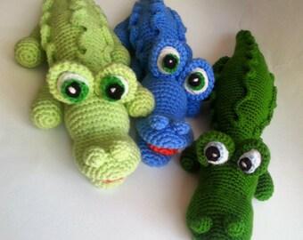 Crocodile amigurumi - knitted toys