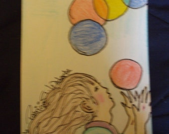 Juggling girl