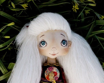 Doll April....LittleDoll, Girl, Cloth Doll, art doll,handmade.