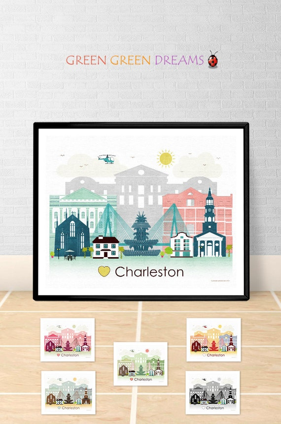 Charleston Poster Print Wall Art Printable Charleston South