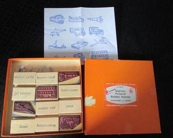Vintage Pictoral Rubber stamp