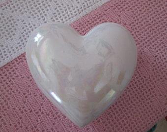 Small box heart Iridescent / Small casket Heart Iridescent