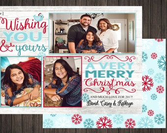 Christmas Wishes  2 Sided Photo Holiday/Christmas Card (7)