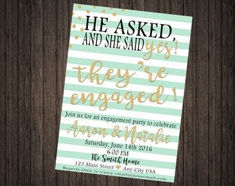 Engagement Party Invitation PRINTABLE DIY