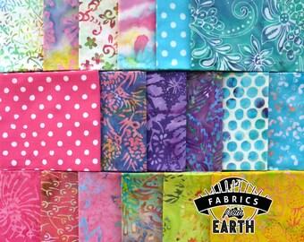 Candy Crush Batik 18 Fat Quarter Bundle - Quilting Fabric