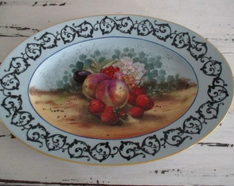 Orgy UC Limoges porcelain serving plate