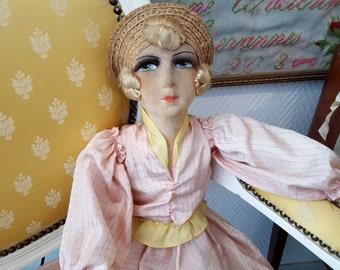 French Boudoir doll salon doll 1920 authentic - 20600