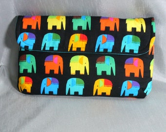 PRICE REDUCED: Clutch, Diaper Clutch, Elephant Print