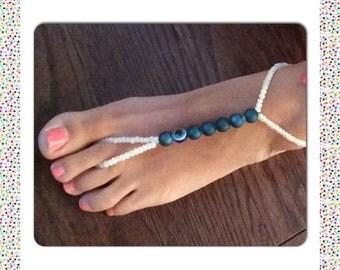 Beaded foot thong