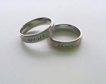 Relationship Status Ring, it's complicated, single, taken, relationship, cute, funny, relationship status, break up, break up ring, single