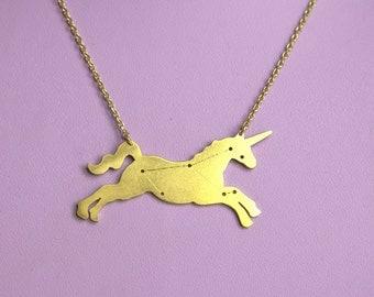 Unicorn constellation necklace