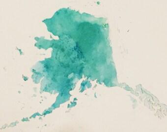 Watercolor State Print