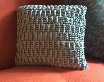 Handmade Crochet Throw Pillow