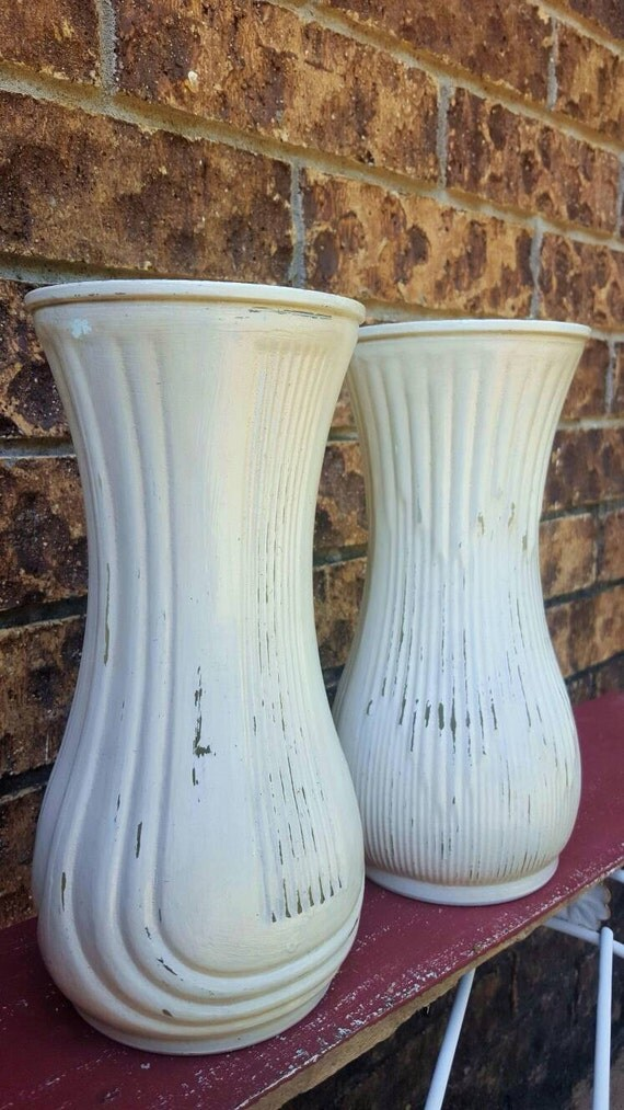 large shabby chic vase distressed vases wedding d cor. Black Bedroom Furniture Sets. Home Design Ideas
